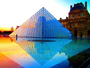 louvre pyramid by Peggy2012CREATIVELENZ flickr