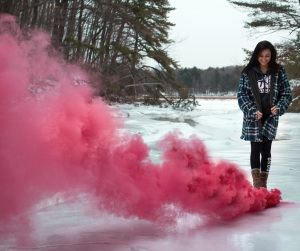 pink smoke photo by Kristopher Roller via StockSnap copy